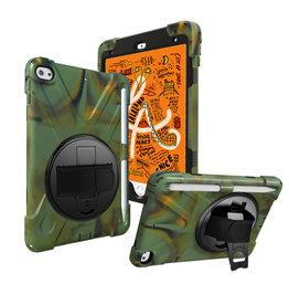 Case2go iPad Mini 7.9 inch (2019) Cover - Hand Strap Armor Case - Camouflage
