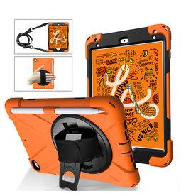 Case2go iPad Mini 7.9 inch (2019) Cover - Hand Strap Armor Case - Oranje