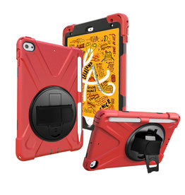Case2go iPad Mini 7.9 inch (2019) Cover - Hand Strap Armor Case - Rood