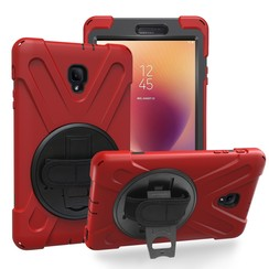Samsung Galaxy Tab A 8.0 (2017) Cover - Hand Strap Armor Case - Rood