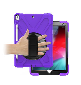 Case2go iPad 10.2 (2019) Cover - Hand Strap Armor Case - Paars