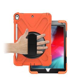 Case2go iPad 10.2 (2019) Cover - Hand Strap Armor Case - Oranje