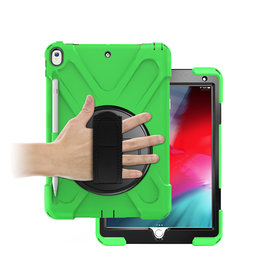 Case2go iPad 10.2 (2019) Cover - Hand Strap Armor Case - Green