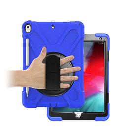 Case2go iPad 10.2 (2019) Cover - Hand Strap Armor Case - Blauw