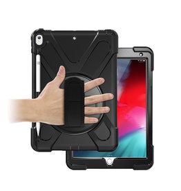 Case2go iPad 10.2 (2019) Cover - Hand Strap Armor Case - Zwart