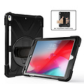 Cover2day iPad 10.2 (2019) Cover - Hand Strap Armor Case - Zwart