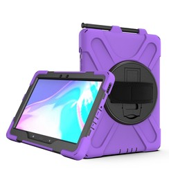 Samsung Galaxy Tab Active Pro Cover - Hand Strap Armor Case - Paars