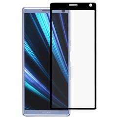 Sony Xperia 10 - Full Cover Screenprotector - Gehard Glas - Zwart