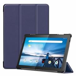 Lenovo Tab M10  hoes  - Tri-Fold Book Case (TB-X605 & TB-X505) - Donker Blauw