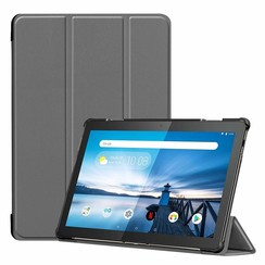 Lenovo Tab M10  hoes  - Tri-Fold Book Case (TB-X605 & TB-X505) - Grijs