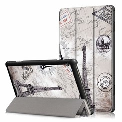 Lenovo Tab M10  hoes  - Tri-Fold Book Case (TB-X605 & TB-X505) - Eiffeltoren
