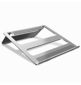 Merkloos Opvouwbare laptop / macbook standaard - Aluminium - Zilver
