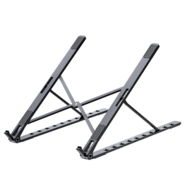 Merkloos Universele Verstelbare Aluminium Laptop standaard - 11.6 tot 15.4 inch - Zwart