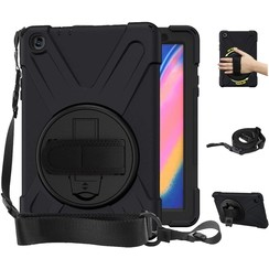 Samsung Galaxy Tab A 8.0 2019 Hoes - Hand Strap Armor Case - Zwart