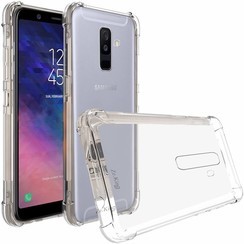 Samsung Galaxy A6 Plus hoes - Anti-Shock TPU Back Cover - Transparant