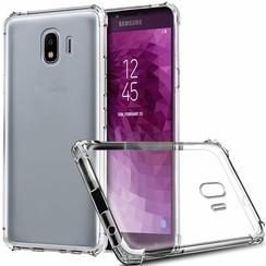 Samsung Galaxy J4 (2018) hoes - Anti-Shock TPU Back Cover - Transparant