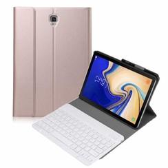 Samsung Galaxy Tab S4 10.5 Bluetooth toetsenbord hoes Rose-Gold