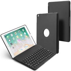 iPad 9.7 (2017/2018) case - Bluetooth Toetsenbord hoes - Zwart
