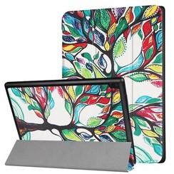 Lenovo Tab 4 10 - Tri-Fold Book Case Gekleurde Boom