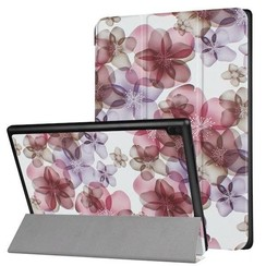 Lenovo Tab 4 10 - Tri-Fold Book Case Flowers