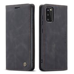 CaseMe - Samsung Galaxy S20 hoes - Wallet Book Case - Magneetsluiting - Zwart