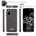 CaseMe CaseMe - Samsung Galaxy S20 hoesje - Wallet Book Case met Ritssluiting - Zwart
