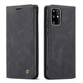 CaseMe CaseMe - Samsung Galaxy S20 Plus hoesje - Wallet Book Case - Magneetsluiting - Zwart