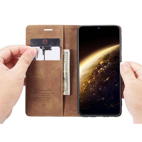 CaseMe CaseMe - Samsung Galaxy S20 Plus hoesje - Wallet Book Case - Magneetsluiting - Licht Bruin