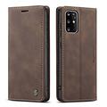 CaseMe CaseMe - Samsung Galaxy S20 Plus hoesje - Wallet Book Case - Magneetsluiting - Donker Bruin