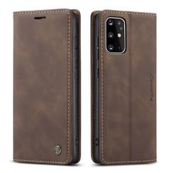 CaseMe - Samsung Galaxy S20 Plus hoesje - Wallet Book Case - Magneetsluiting - Donker Bruin