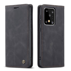 CaseMe - Samsung Galaxy S20 Ultra hoesje - Wallet Book Case - Magneetsluiting - Zwart