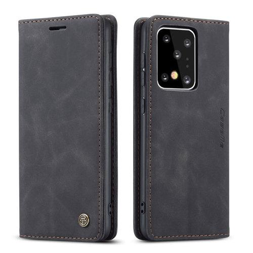 CaseMe CaseMe - Samsung Galaxy S20 Ultra hoesje - Wallet Book Case - Magneetsluiting - Zwart