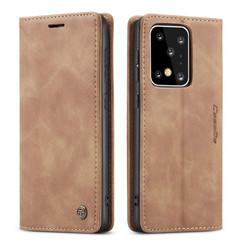 CaseMe - Samsung Galaxy S20 Ultra hoesje - Wallet Book Case - Magneetsluiting - Licht Bruin