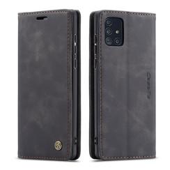 CaseMe - Samsung Galaxy A51 hoesje - Wallet Book Case - Magneetsluiting - Zwart