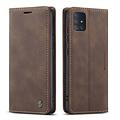 CaseMe CaseMe - Samsung Galaxy A51 hoesje - Wallet Book Case - Magneetsluiting - Donker Bruin