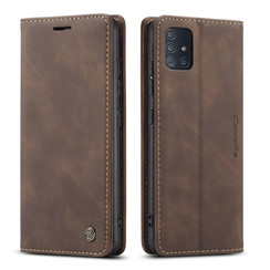 CaseMe - Samsung Galaxy A51 hoesje - Wallet Book Case - Magneetsluiting - Donker Bruin