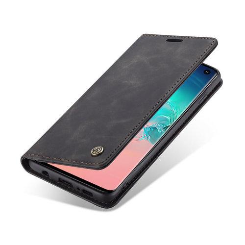 CaseMe CaseMe - Samsung Galaxy S10 hoesje - Wallet Book Case - Magneetsluiting - Zwart