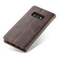 CaseMe CaseMe - Samsung Galaxy S10e hoesje - Wallet Book Case - Magneetsluiting - Donker Bruin