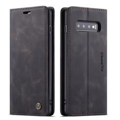 CaseMe - Samsung Galaxy S10 Plus hoesje - Wallet Book Case - Magneetsluiting - Zwart
