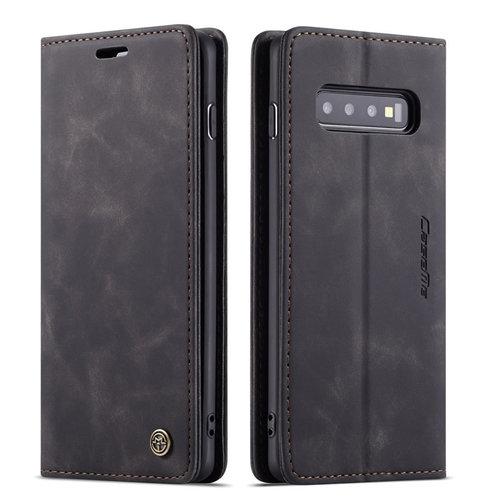 CaseMe CaseMe - Samsung Galaxy S10 Plus hoesje - Wallet Book Case - Magneetsluiting - Zwart