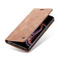 CaseMe CaseMe - Samsung Galaxy S10 Plus hoesje - Wallet Book Case - Magneetsluiting - Licht Bruin