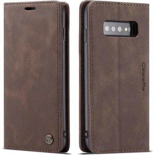 CaseMe CaseMe - Samsung Galaxy S10 Plus hoesje - Wallet Book Case - Magneetsluiting - Donker Bruin