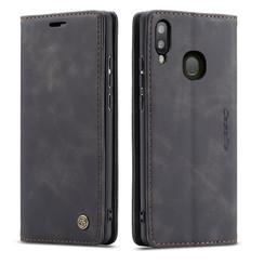 CaseMe - Samsung Galaxy A30 hoesje - Wallet Book Case - Magneetsluiting - Zwart