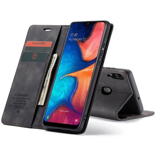 CaseMe CaseMe - Samsung Galaxy A30 hoesje - Wallet Book Case - Magneetsluiting - Zwart
