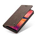 CaseMe CaseMe - Samsung Galaxy A30 hoesje - Wallet Book Case - Magneetsluiting - Donker Bruin