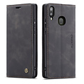 CaseMe CaseMe - Samsung Galaxy A40 hoesje - Wallet Book Case - Magneetsluiting - Zwart