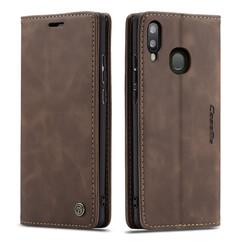 CaseMe - Samsung Galaxy A40 hoesje - Wallet Book Case - Magneetsluiting - Donker Bruin