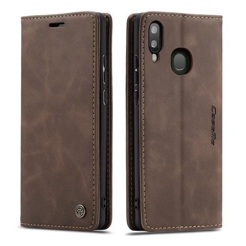 CaseMe CaseMe - Samsung Galaxy A40 hoesje - Wallet Book Case - Magneetsluiting - Donker Bruin