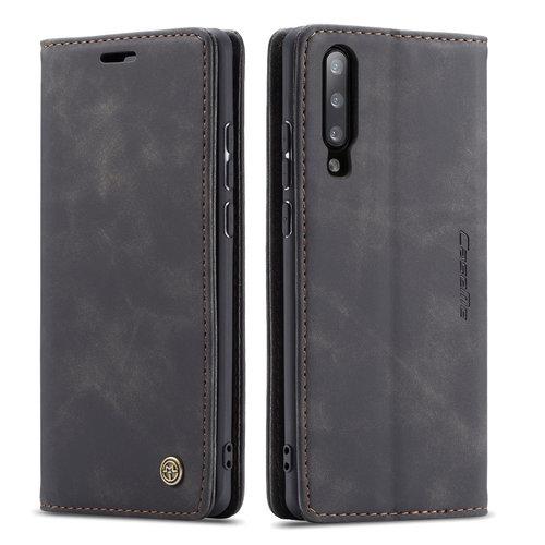 CaseMe CaseMe - Samsung Galaxy A50 hoesje - Wallet Book Case - Magneetsluiting - Zwart