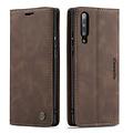 CaseMe CaseMe - Samsung Galaxy A50 hoesje - Wallet Book Case - Magneetsluiting - Donker Bruin